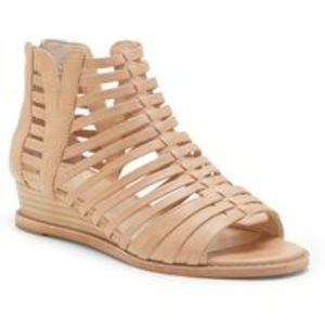 Vince Camuto Caged Natural Revey Mini Wedge Sandal